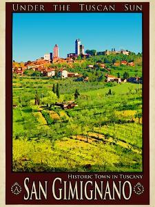 San Gimignano Tuscany 8 by Anna Siena