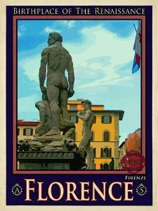 Statue of David, Piazza Della Signoria, Florence Italy 3 by Anna Siena