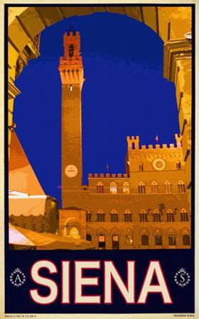 Tower in Siena Italy 2 by Anna Siena