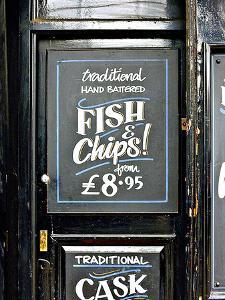 Traditional Hand Battered Fish and Chips!, London by Anna Siena
