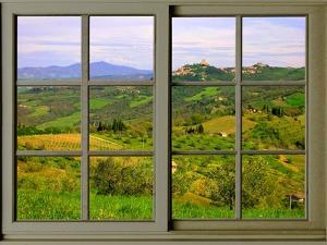 View from the Window at Castiglione D'Orcia by Anna Siena
