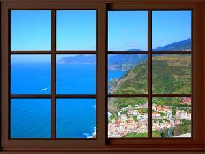 View from the Window at Cinque Terre by Anna Siena
