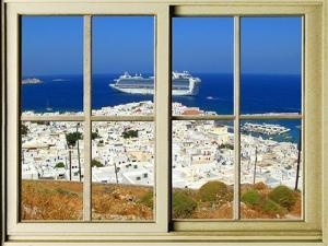 View from the Window at Mykonos Island 1 by Anna Siena