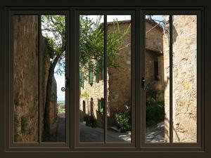 View from the Window at Pienza, Tuscany by Anna Siena