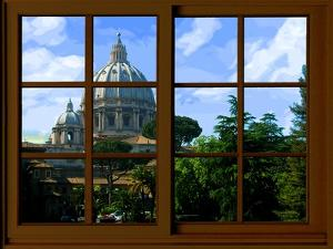 View from the Window at Vatican Garden 1 by Anna Siena