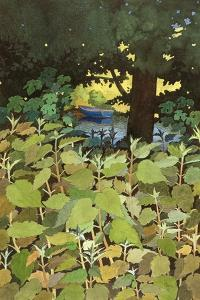 Blue Boat, 1995 by Anna Teasdale
