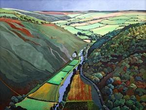 Coombe Valley Gate, Exmoor, 2009 by Anna Teasdale