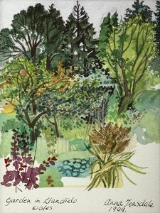 Garden in Llandielo, 1999 by Anna Teasdale