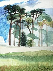 Wiltshire Pines, 1989 by Anna Teasdale