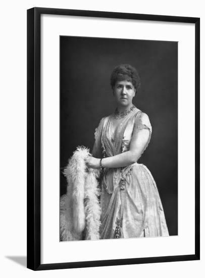 Anna Williams, Singer, 1890-W&d Downey-Framed Photographic Print