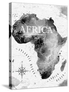 Ink Africa Map by anna42f