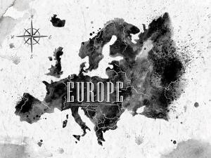 Ink Europe Map by anna42f