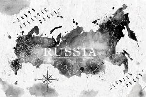 Ink Russia Map by anna42f