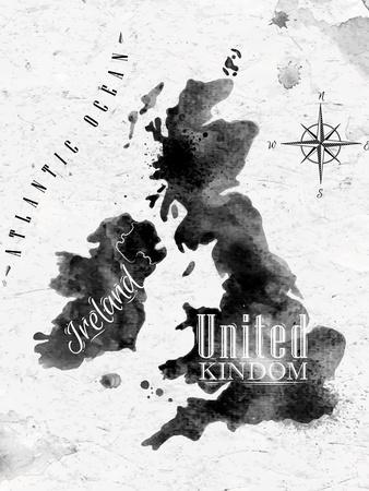 Ink United Kingdom and Scotland Map