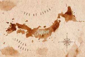 Map Japan Retro by anna42f