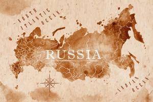 Map Russia Retro by anna42f