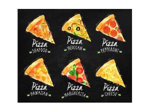 Pizza Chalk Set by anna42f