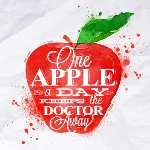 Poster Fruit Apple Red by anna42f