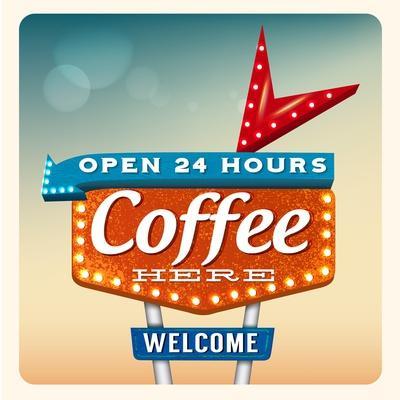 Retro Neon Sign Coffee