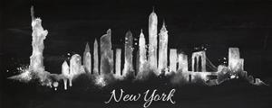 Silhouette Chalk New York by anna42f