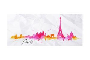 Silhouette Watercolor Paris by anna42f