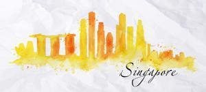 Silhouette Watercolor Singapore by anna42f