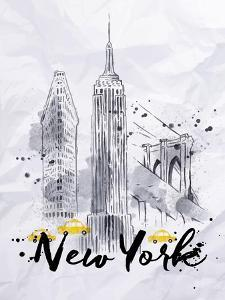 Watercolor New York Buildings by anna42f