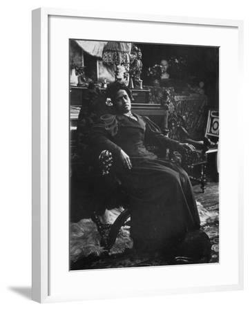 Annah La Javanaise (B.1880) Mistress of Paul Gauguin (1848-1903) Rue De La Grande Chaumiere-Alphonse Mucha-Framed Photographic Print