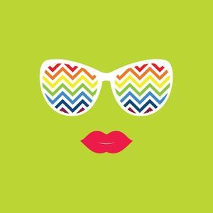 Sunglasses and Lips. Vector Illustration. Print for Your T-Shirts. by AnnaKukhmar