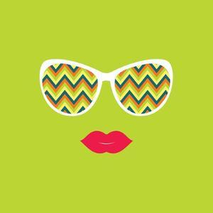 Sunglasses and Lips. Vector Illustration. by AnnaKukhmar