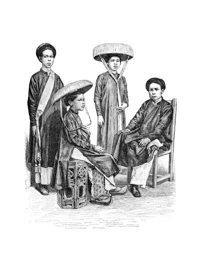 Annamese Chiefs and Women, Vietnam, 1895--Giclee Print