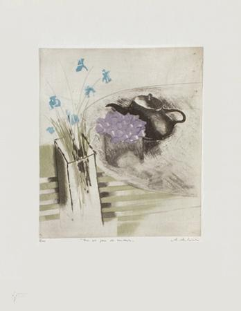 Iris Et Pois De Senteur by Annapia Antonini