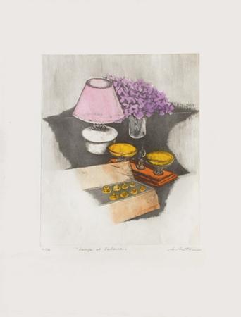 Lampe Et Balance by Annapia Antonini