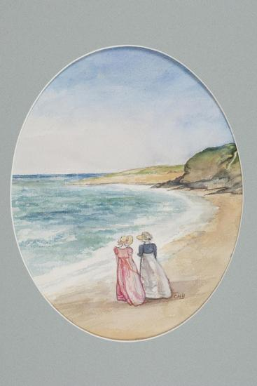Anne and Henrietta Stroll Down to the Sea, 2006-Caroline Hervey-Bathurst-Giclee Print