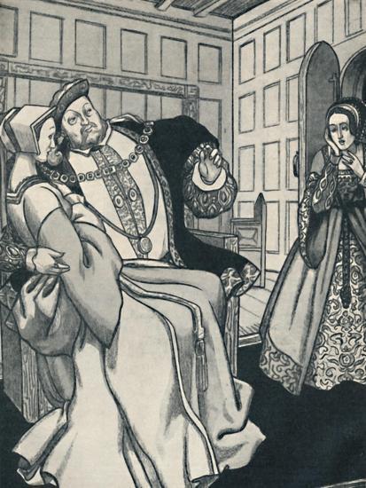 'Anne Boleyn Receives a Great Shock', c1934-Unknown-Giclee Print