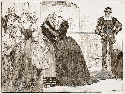 Anne Boleyn's Last Farewell to Her Ladies-Mary Gow-Giclee Print