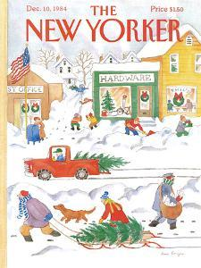 The New Yorker Cover - December 10, 1984 by Anne Burgess
