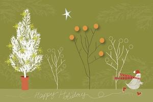 Happy Holiday Fond Olive by Anne Cote