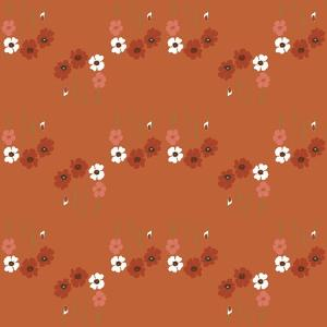 Pattern Coquelicot Corail by Anne Cote