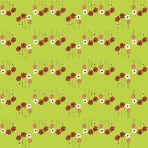 Pattern Coquelicot Lime by Anne Cote