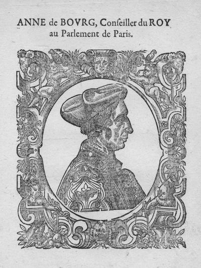 Anne de Bourg, Conseiller du Roy au Parlement de Paris, c18th century--Giclee Print