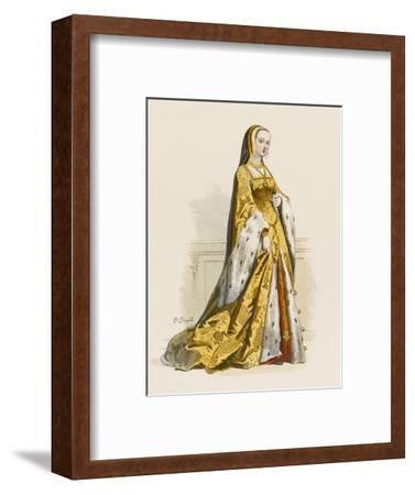 Anne De Bretagne Second Wife of Louis XII--Framed Giclee Print