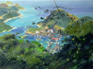 View of Aberdeen from the Peak, Hong Kong by Anne Durham