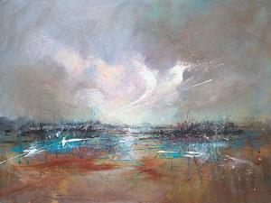 Clouds Above River 2 by Anne Farrall Doyle