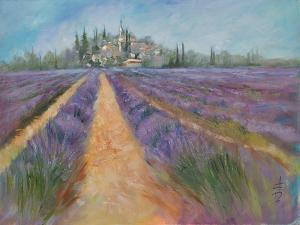 Fields Of Lavender 2 by Anne Farrall Doyle