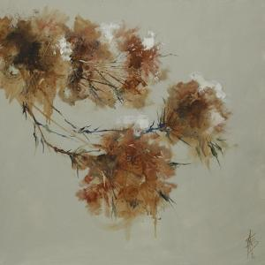 Rusty Spring Blossoms I by Anne Farrall Doyle