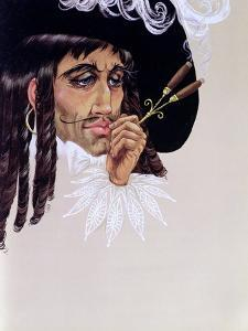 Captain Hook, from 'Peter Pan' by J.M. Barrie by Anne Grahame Johnstone