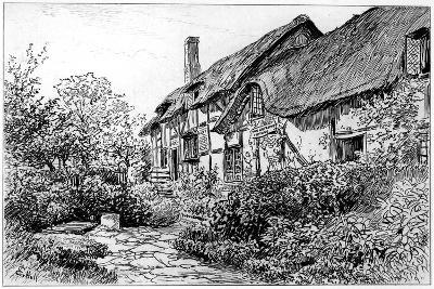 Anne Hathaway's Cottage at Shottery, Stratford-Upon-Avon, Warwickshire, 1885-Edward Hull-Giclee Print