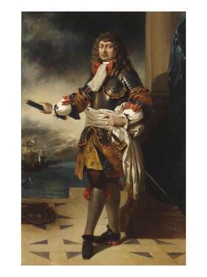 Anne-Hilarion de Costentin, comte de Tourville, maréchal de France (1642-1701)-Eugene Delacroix-Giclee Print