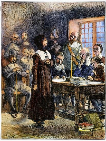 Anne Hutchinson (1591-1643)-Edwin Austin Abbey-Giclee Print
